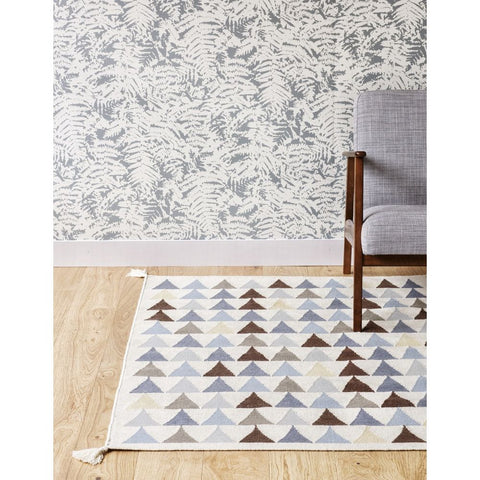 AFKLIVING Rug Triangles Blue