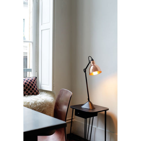 DCW EDITIONS Table Lamp Lampe Gras 205 Black Body Copper Inside