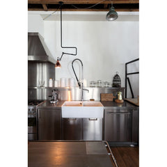 DCW EDITIONS Suspension Light Lampe Gras 312 Black Body Copper Inside