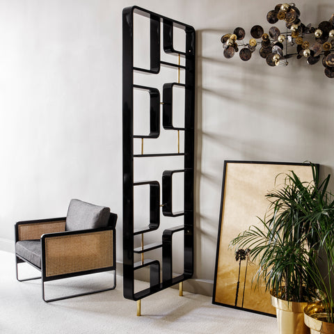 RED EDITION Folding Screen Black Claustra