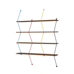 LA CHANCE Shelf Climb 120 Color Metal Threads & Walnut