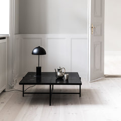 HANDVÄRK Coffee Table 90 Black Brass Frame Green Marble