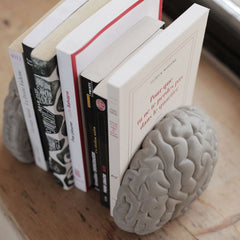 LYON BETON Bookshelf gray matters book ends