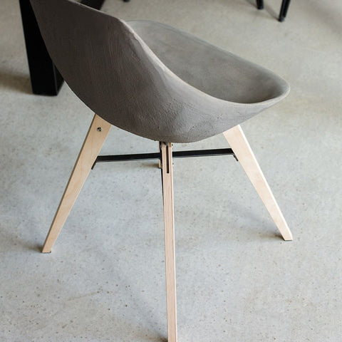 LYON BETON Chair Hauteville with plywood feet