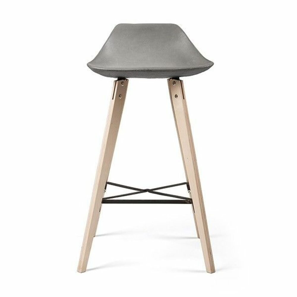 LYON BETON Bar Stool Hauteville counter chair version with plywood feet
