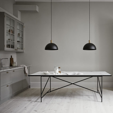HANDVÄRK Suspension Light Studio Black & Brass