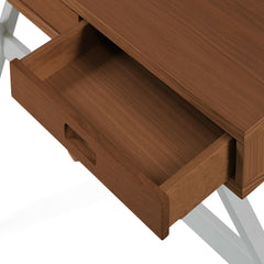 HARTO Desk Hyppolite Walnut & Slate Grey