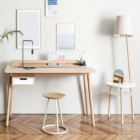 HARTO Desk Honoré Oak White