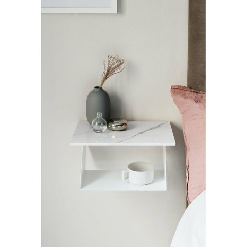 MAZE Bedside Table Edgy Edition White