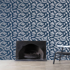 LA CHANCE Wallpaper Jer Blue & Silver