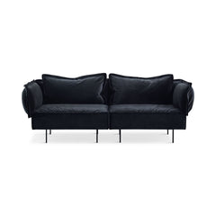 HANDVÄRK The Modular Sofa 2-Seat Lounge Chair Dark Grey Velvet