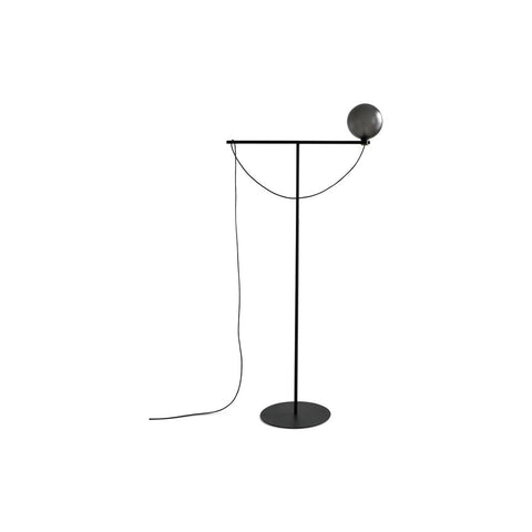HANDVÄRK Floor Lamp Globe Black