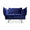 HANDVÄRK The Modular Sofa 1-Seat Lounge Chair Royal Blue Velvet