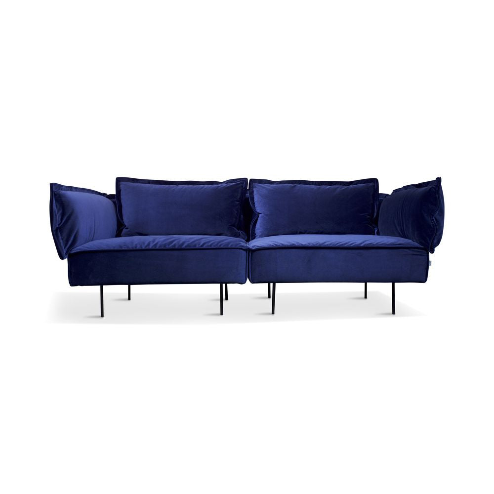 HANDVÄRK The Modular Sofa 2-Seat Sofa Royal Blue Velvet