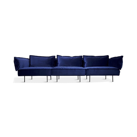 HANDVÄRK The Modular Sofa 3-Seat Sofa Royal Blue Velvet