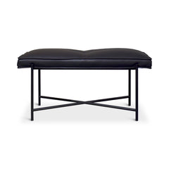 HANDVÄRK Piano Bench Black Frame Black Leather