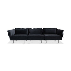 HANDVÄRK The Modular Sofa 3-Seat Sofa Dark Grey Velvet