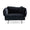 HANDVÄRK The Modular Sofa 1-Seat Lounge Chair Dark Grey Velvet