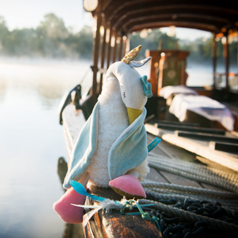 "MOULIN ROTY Soft Toy Bambou the goose ""Le voyage d'Olga"""