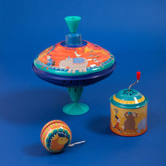 "MOULIN ROTY Large racing spinning top ""Metal toys"""