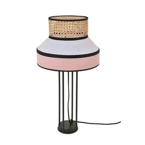 MARKET SET Table Lamp Singapour Rattan 30cm