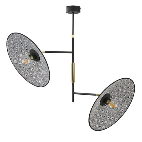 MARKET SET Suspension Light Gatsby 2 Lights Printed ø80cm