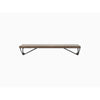 MAZE Shelf Pythagoras XS Walnut Shelf + 2 Black Brackets