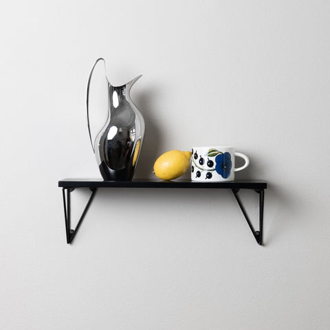 MAZE Shelf Pythagoras XS Black Shelf + 2 Black Brackets