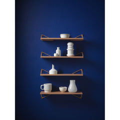 MAZE Shelf Pythagoras XS Apricot Shelf + 2 Apricot Brackets