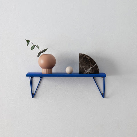 MAZE Shelf Pythagoras XS Blue Shelf + 2 Blue Brackets