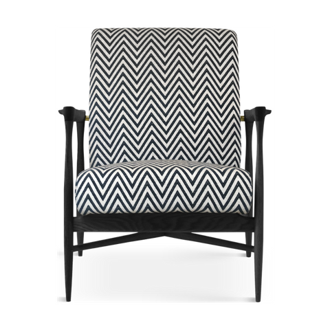 RED EDITION Armchair Floating Black Frame Zebra