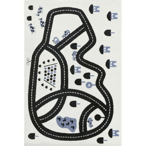 AFKLIVING Kids Rug Race Track Grey
