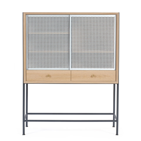 HARTO Cabinet Gabin Oak & Light Grey