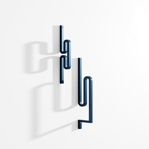 LA CHANCE Coat Hook Zag Blue X2