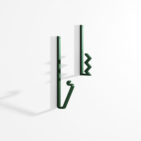 LA CHANCE Coat Hook Zag Green X2
