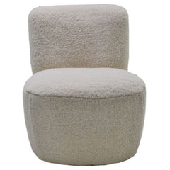 OPJET PARIS Armchair Eve Fabric Faux-Fur White