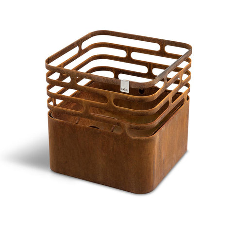 HÖFATS Cube Fire Basket Rusty