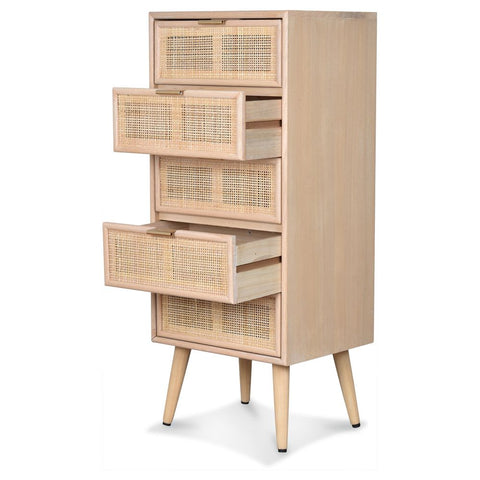 OPJET PARIS Chest of Drawers Roro 5 Drawers 100cm