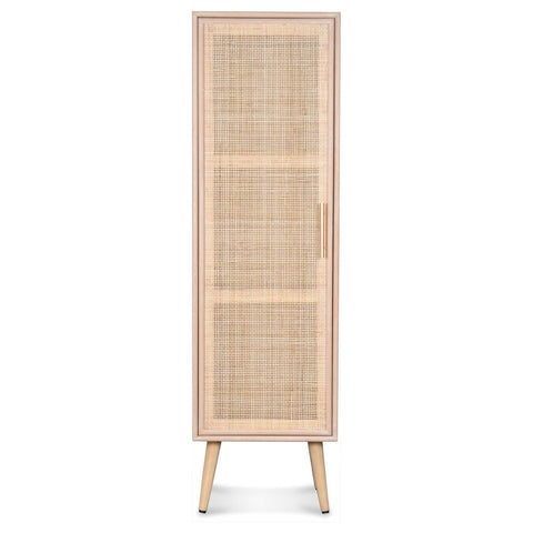 OPJET PARIS Tall Chest Roro Wood Rattan 140cm