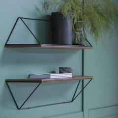 KANN DESIGN Shelf Epure Black & Teak
