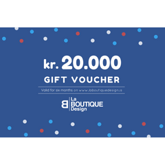 LA BOUTIQUE DESIGN Gift Card Blue Version 20.000 kr.