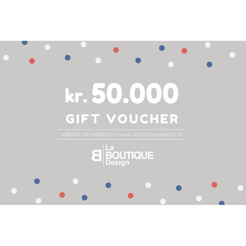 LA BOUTIQUE DESIGN Gift Card Grey Version 50.000 kr.