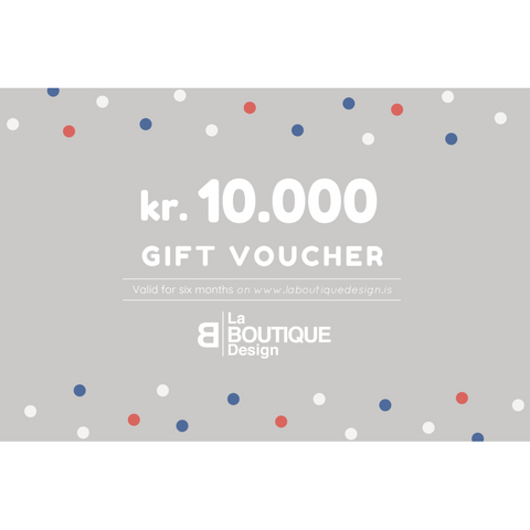LA BOUTIQUE DESIGN Gift Card Grey Version 10.000 kr.