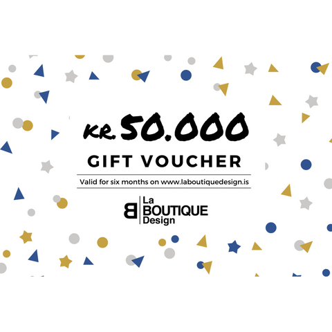 LA BOUTIQUE DESIGN Gift Card White Version 50.000 kr.