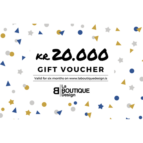 LA BOUTIQUE DESIGN Gift Card White Version 20.000 kr.