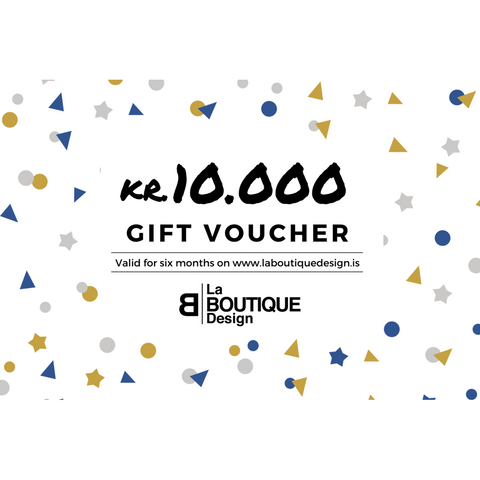 LA BOUTIQUE DESIGN Gift Card White Version 10.000 kr.
