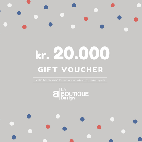 LA BOUTIQUE DESIGN Gift Card Grey Version 20.000 kr.
