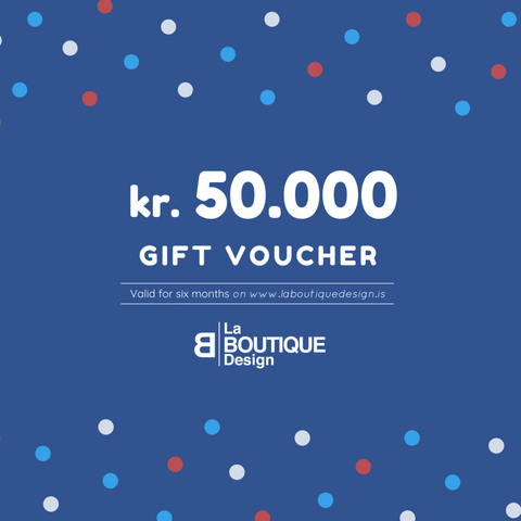 LA BOUTIQUE DESIGN Gift Card Blue Version 50.000 kr.