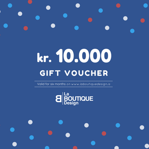 LA BOUTIQUE DESIGN Gift Card Blue Version 10.000 kr.