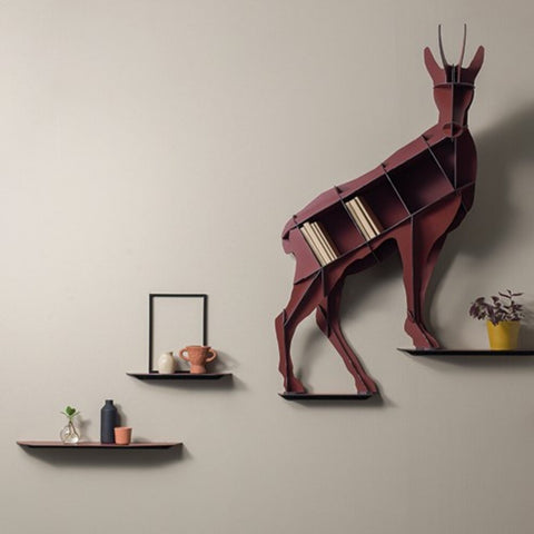 IBRIDE Wall Shelf Acrobat Chamois Horace 133cm